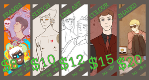 updated commission sheet. by captaincreeds