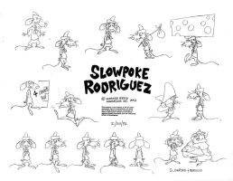 Slowpoke Rodriguez Model Sheet by guibor