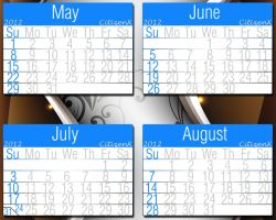 2012 Calender May, June, July, Aug. by CitizenXCreation