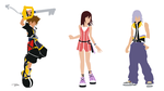 Kingdom Hearts 2 Sora Kairi Riku by truss31