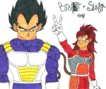 Vegeta and Little Sister by GokuIsTheBomb