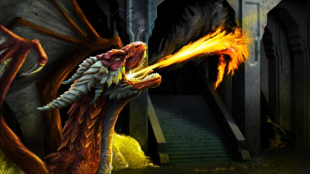 The Wrath of Smaug by franeres