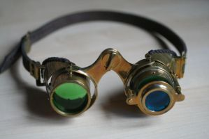 Steampunk goggles 'N-axis'4 by Gogglerman