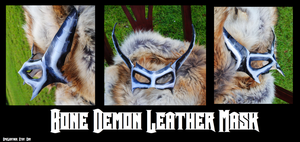 Bone Demon Leather Mask by Epic-Leather