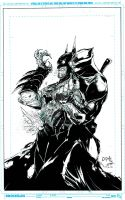Batman sample inks by lebeau37
