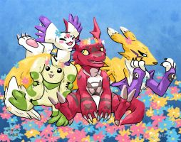 Digimon Tamers Party by whinges
