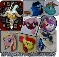 My Little Pony Clay Magnet Set 3 by HeyLookASign