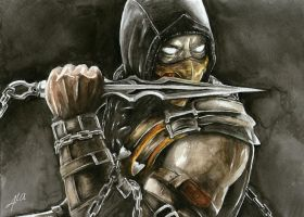 Scorpion - Mortal Kombat by ThisBodomLake