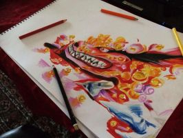 Drawing Kuruma/Nine-Tails by BrownBeard