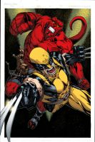 Hellboy and Wolverine - Ginmau colors by SpiderGuile