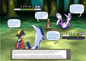 Lugia and Gold meet Lugia and Gold by DarkraDx