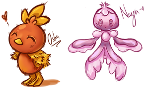 Torchic and Frillish
