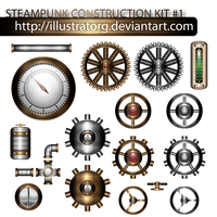STEAMPUNK CONSTRUCTION KIT 1 by IllustratorG