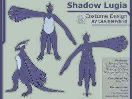 Shadow Lugia Costume Design