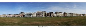 Dieppe Promenade Panorama by TakeMeToAnotherPlace