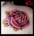 Rose tattoo by Puku