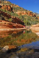 Slide Rock Reflections by E-Davila-Photography
