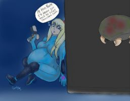 Metroid: Pregnancy (Request) by Candy-Matthews
