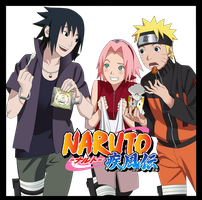 Naruto Road To Ninja - Team 7 by Axcell1ben