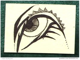 Tribal Eye II ATC 85 by Quaddles-Roost