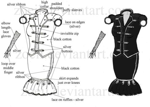 Black Parade Marching Uniform by zoeil