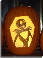 Jack Skellington Pumpkin by mkuppe