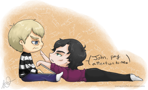 Pay Attention to Me - Johnlock by TeacupGiraffes