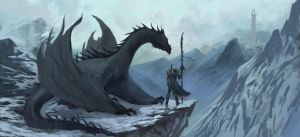 Dragon Huntress by jbconcept