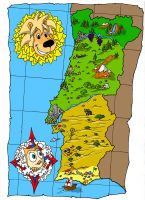 Rik and Rok's Portugal Map by LPCD