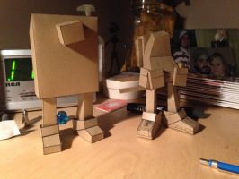 NEW Paper Toy WIP 1 by IdeatoPaperStudios