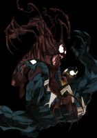 Venom vs Carnage - Colour by ChocolateBiscuits