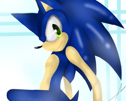 -Sonic the Hedgehog- by TheLittleChuu
