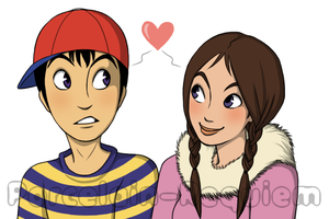 Ness and Nana by Porcelain-Requiem
