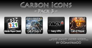 Carbon Icons Pack 3 by OOmatrixOO