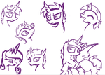 Nightfall the Prince of the Changelings sketch by StarLuzBrony