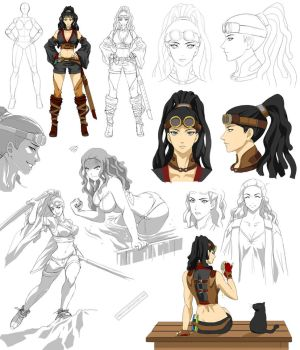 naruto style girl design, Evenlea (commision) by Precia-T