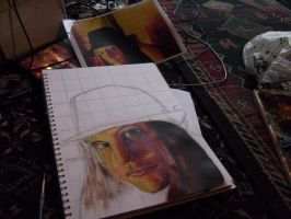 My face on paper WIP by SillyStell