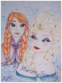 Anna and Elsa by mSanchez89