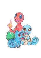 First Gen Starters! by GlassTorchCreations