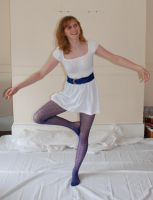 Blue tights 1 by Samphire-stock