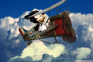 Mickey Mouse Flying Ace by sgorbissa