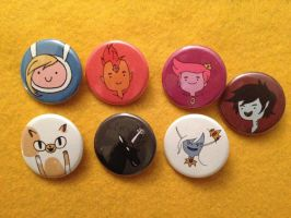 Adventure Time buttons III by alliartist