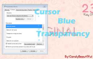 Blue Transparency Cursors By CandyBeautiful by CandyBeautiful