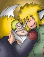 Fox Naruto and Minato by CathyMouse2010