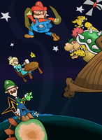 Galaxy Plumbers by Porcodotranstorno