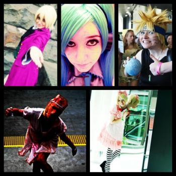 My Cosplays For 2011 by TheSuperMoMo