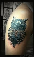 Owl Tattoo by camsy