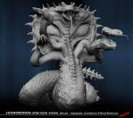 zOuroboros front view- grayscale by dopepope