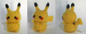 Needlefelt_Pikachu by LuxIosis