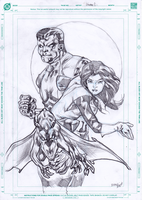 Colossus, Kitty pryde and Lockheed by gunzaku56
